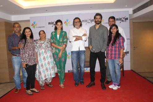 Club Mahindra members meet and greet star cast of movie Mirzya.JPG