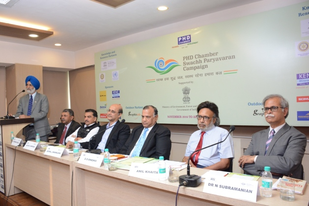 The Panel Members at the Press Meet of Swachh Paryavaran Campaign.JPG
