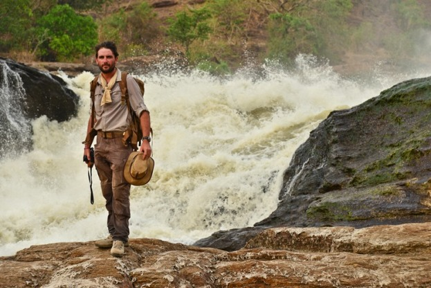 Levison Wood stands at the top of Murchsion Falls, Uganda..jpg