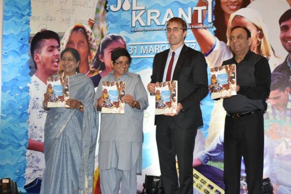 Dr. Kiran Bedi at Launch of Corporate Souvenir 2017_ on the theme 'Jal Kranti