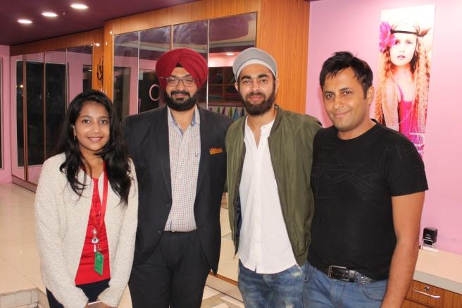 KidZania 2nd Anniversary- Manjot Singh, Shreya Basu, Rahuk Kharbanda & Damanjeet Singh from KidZania.JPG