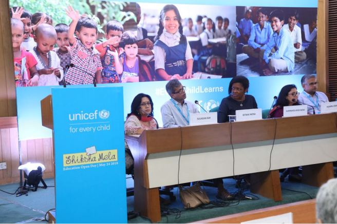 Yasmin Ali Haque UNICEF India Representative addresses Shiksha Mela.JPG